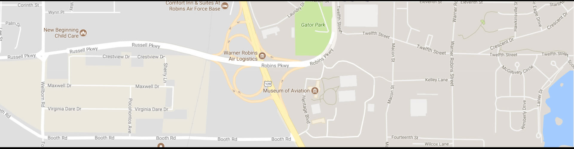 Museum of Aviation Map